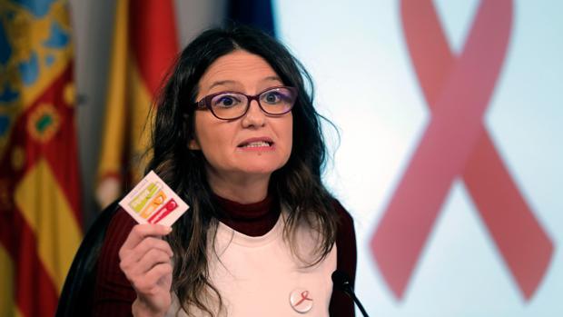 La consellera de Igualdad, Mónica Oltra, este viernes, tras el pleno del Consell