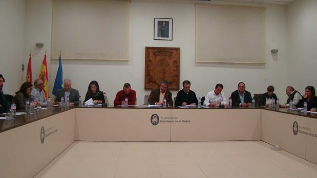 Imagen del último pleno del Ayuntamiento de Quintanar de la Orden