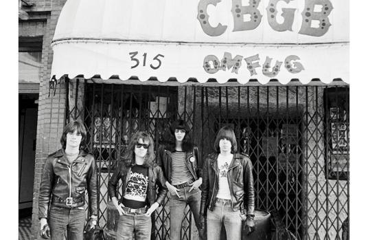 Los Ramones en el CBGB