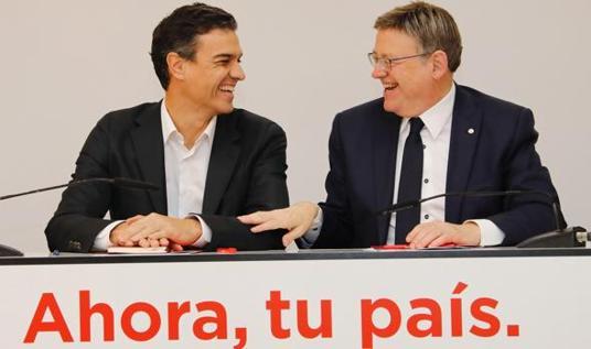 Imagen de Sánchez y Puig tomada el pasado 20 de noviembre en Valencia