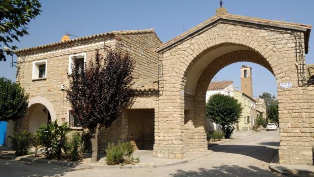 Artasona del Llano, fundado en 1957, uno de los pueblos de colonización de la provincia de Huesca