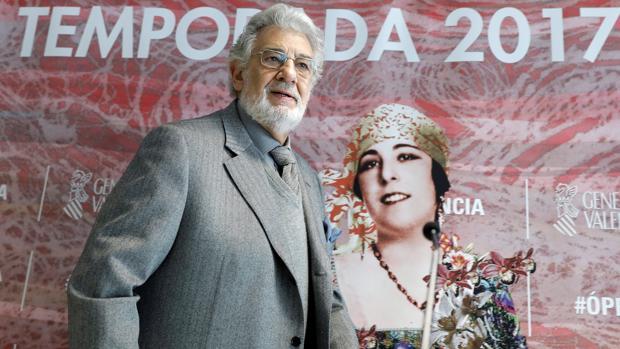 Imagen de Plácido Domingo tomada este lunes en el Palau de les Arts de Valencia