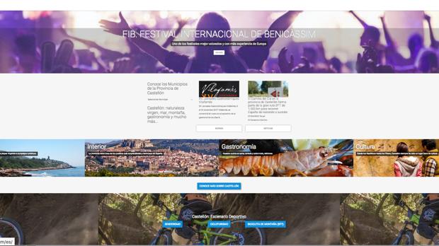 Imagen de la web turismodecastellon.com