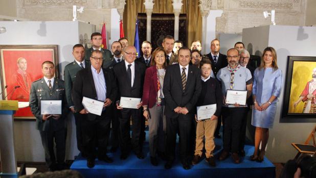 José Julián Gregorio, con todos los galardonados