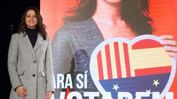 Inés Arrimadas, durante el acto de apertura de la campaña electoral de Ciudadanos