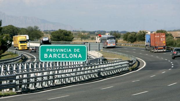 Imagen de la AP7 a la entrada de la provincia de Barcelona