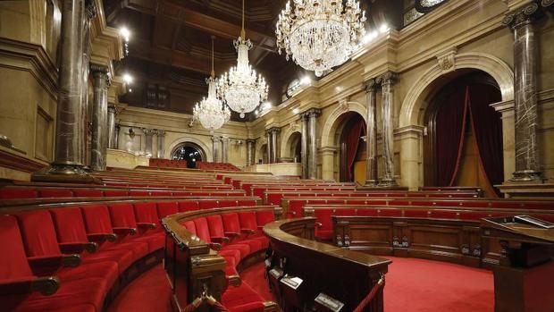 Vista del hemiciclo del Parlament de Cataluña