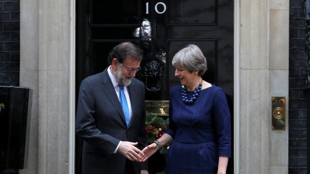 Mariano Rajoy,y Theresa May