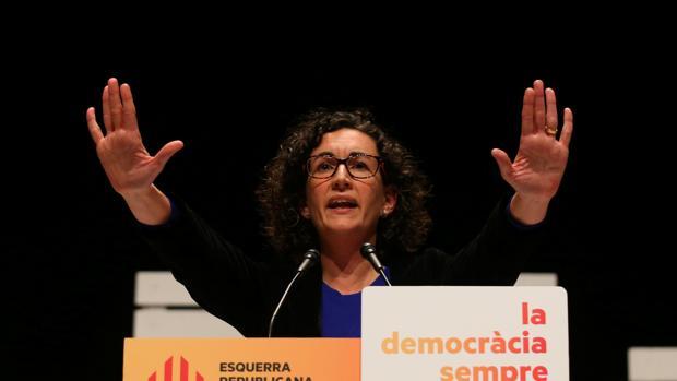 Marta Rovira, durante el acto de apertura de campaña de ERC