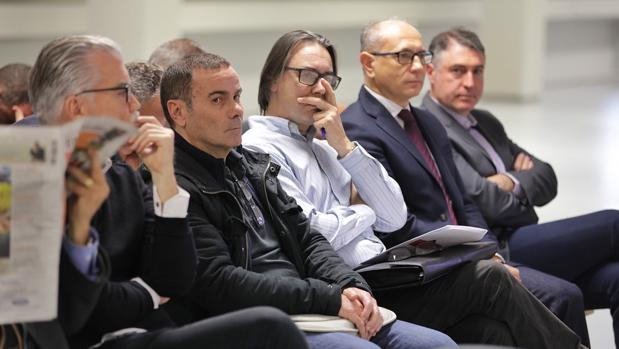 Los acusados del caso Emarsa, sentados al banquillo durante el juicio