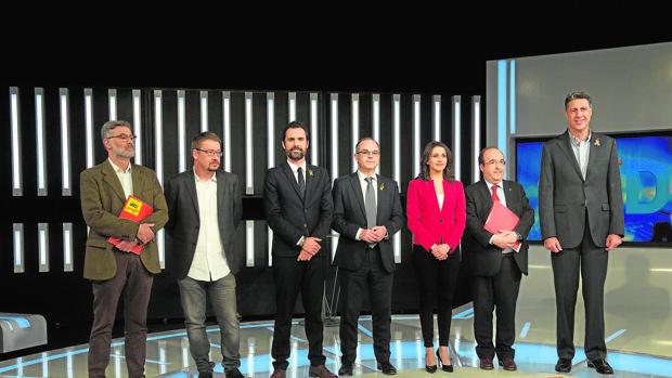 TV3 acogió anoche el primer debate entre los candidatos del 1-O