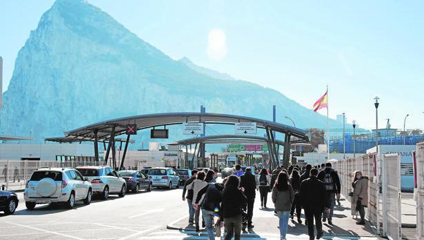Aduana de entrada a Gibraltar desde La Línea