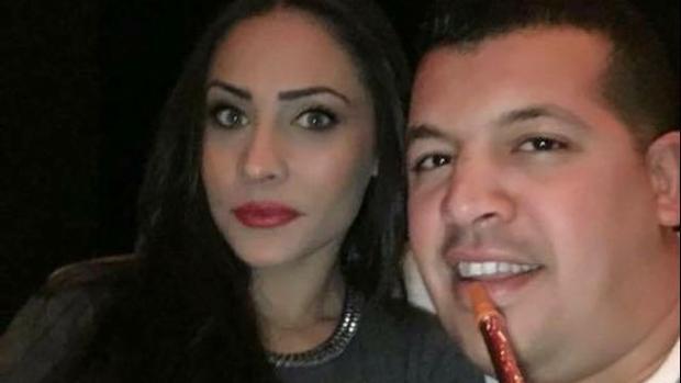 Abdellah El Haj, alias «Messi», con su mujer