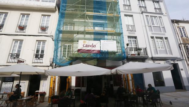 Obras de rehabilitación en el casco histórico de Santiago de Compostela