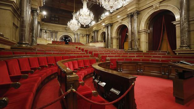 Salón de Plenos del Parlamento catalán