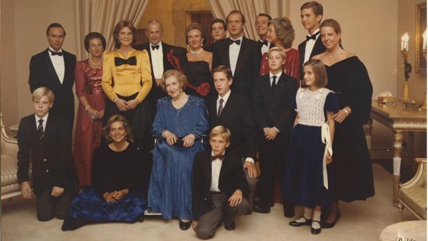 Bodas de oro de los Condes de Barcelona en el Palacio del Pardo, el 12 de octubre de 1985