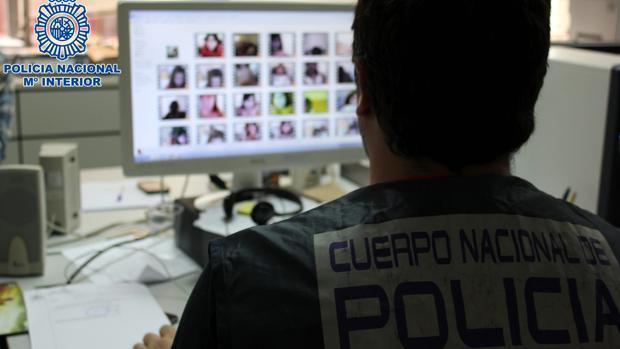 Imagen de archivo de una operación contra la pornografía infantil