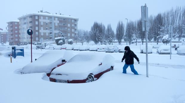En Ávila la nieve ha superado los 40 centímetros