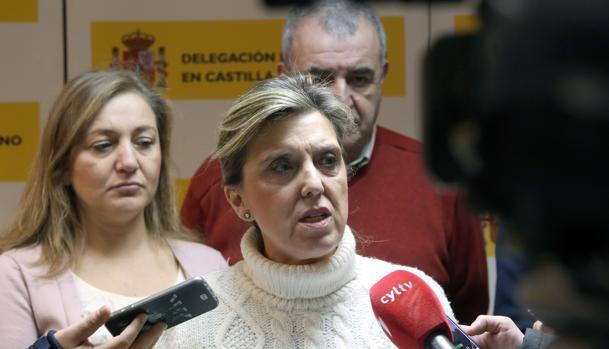 María José Salgueiro, durante su comparecencia