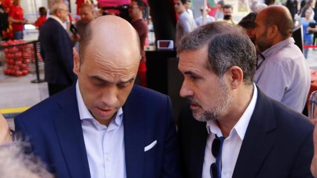 El alcalde Alicante, Gabriel Echávarri, y su asesor Lalo Díez