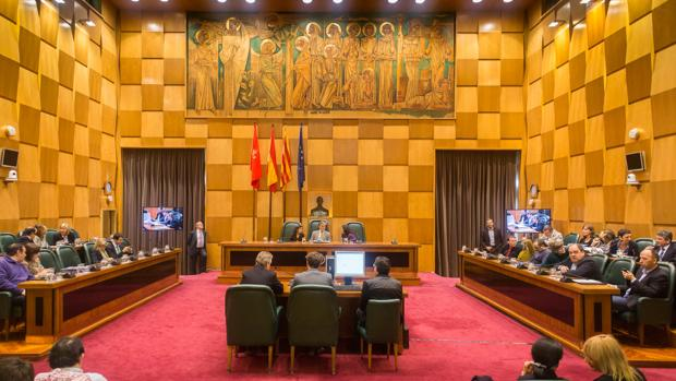 Vista del salón de plenos del Ayuntamiento de Zaragoza