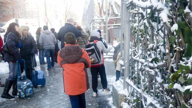 La nieve ha obligado a suspender rutas de transporte escolar