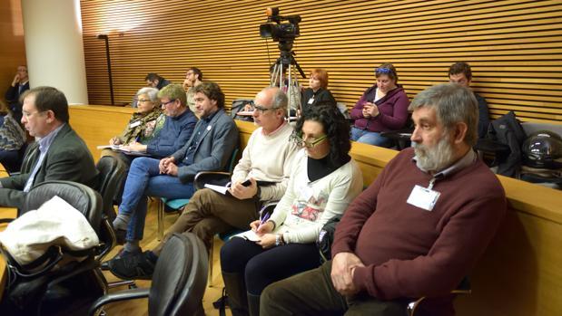 Imagen de la comisión de plurilingüismo en las Cortes Valencianas