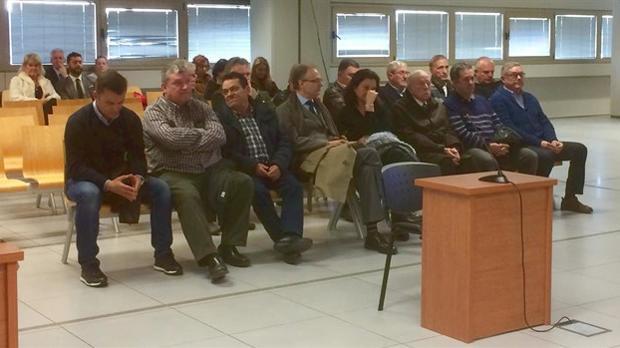 Imagen del juicio por irregularidades urbanísiticas que arrancaba este lunes