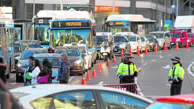Cortes de tráfico en los accesos a la Gran Vía, a principios de diciembre