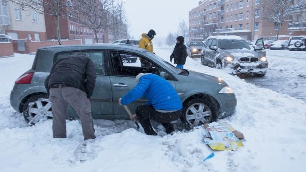 Nieve caída enlos últimos días en Ávila