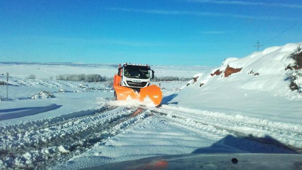 Nieve acumulada en la provincia de Segovia