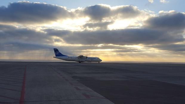 Un ATR de Air Europa Express en el Aeropuerto de Fuerteventura