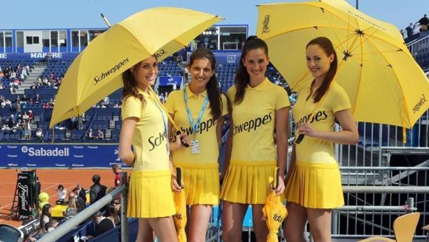 Azafatas en el Trofeo Godó de Barcelona