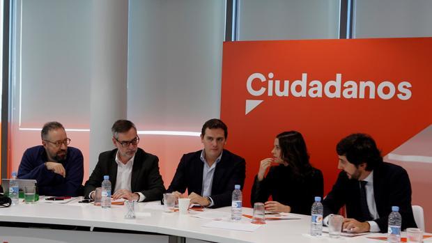 Albert Rivera, Inés Arrimadas y Toni Roldán