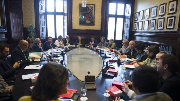 Reunión de la junta de portavoces del Parlament