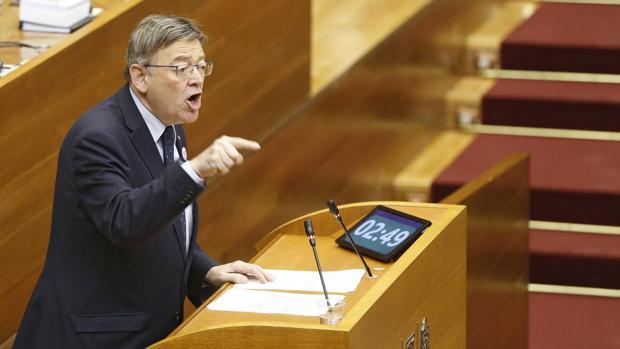 Ximo Puig, durante la última sesión de control el pasado 23 de noviembre