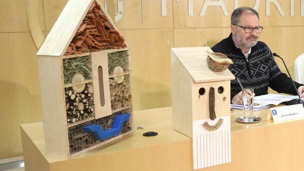 Así será la caja nido que se fabricará en los talleres municipales, con la cara del santo