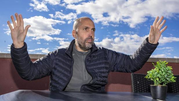 Favio Giorgio, durante la entrevissta para ABC en Alicante