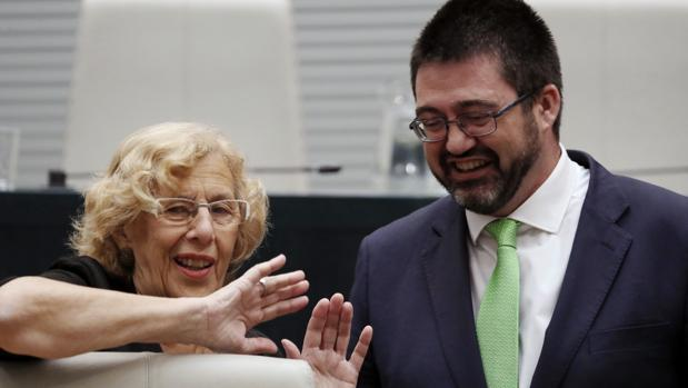 Manuela Carmena y Carlos Sánchez Mato