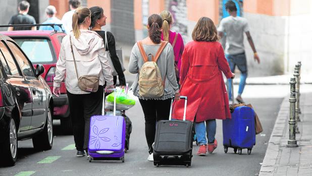 Turistas en las calles de la capital madrileña