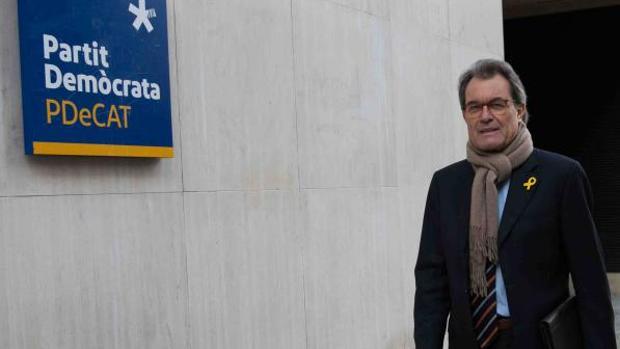Artur Mas, ayer, antes de presentar su dimisión como presidente del PDECat