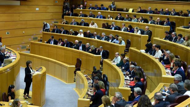 Pleno del Senado en el que Sáenz de Santamaría defendió la aplicación del artículo 155 en Cataluña
