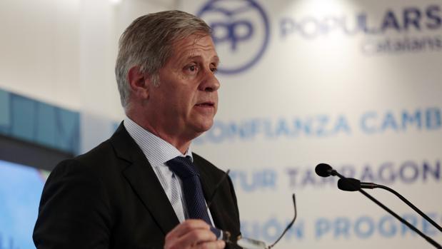 Alberto Fernández, durante su conferencia