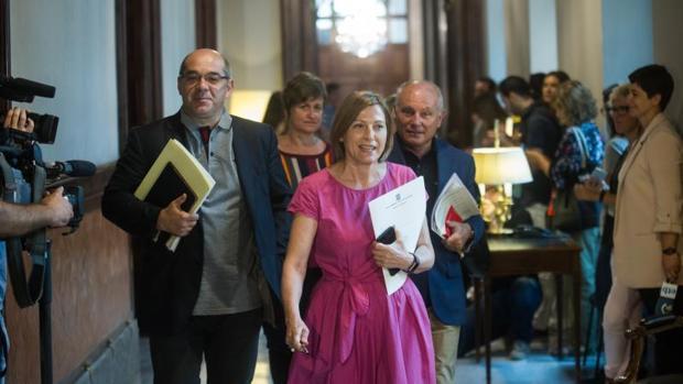 Carme Forcadell, la actual presidenta de la Cámara catalana