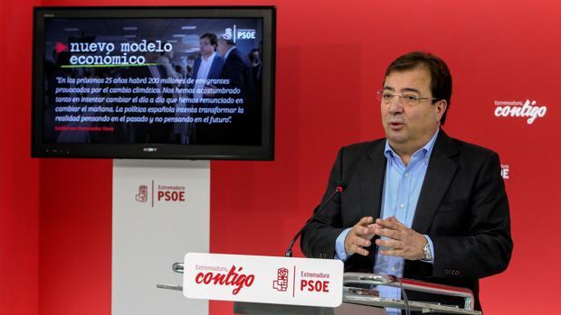 Guillermo Fernández Vara, presidente de la Junta y secretario general del PSOE de Extremadura