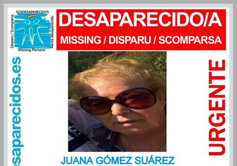 Imagen de la anciana desaparecida