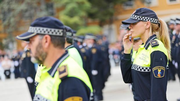 Imagen de archico de agentes de la Policía Local de Valencia
