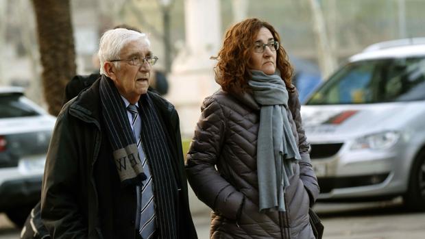 Daniel Osàcar a su llegada a la ciudad de la justicia