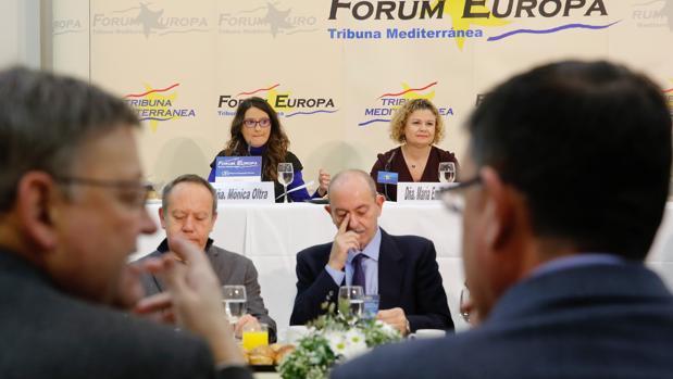 Mónica Oltra, durante el acto de Fórum Europa