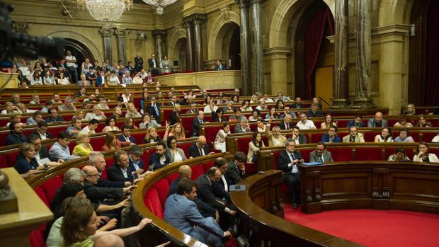 El pleno del parlamento catalán durante la anterior legislatura